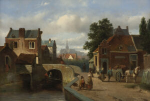 Adrianus Vrolijk | Stadsgezicht te Haarlem | Kunsthandel Bies