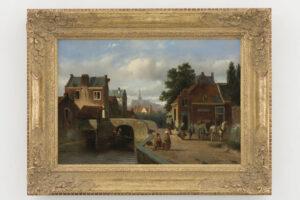 Adrianus Vrolijk   Stadsgezicht te Haarlem   Kunsthandel Bies