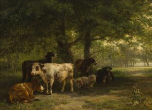 Jan Bedijs Tom | Landschap met vee | Kunsthandel Bies