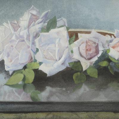 Jan Voerman Sr. | 'La France' rozen in een schaal | Kunsthandel Bie