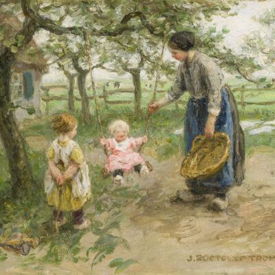 Jan Zoetelief Tromp | Spelen in de tuin | Kunsthandel Bies