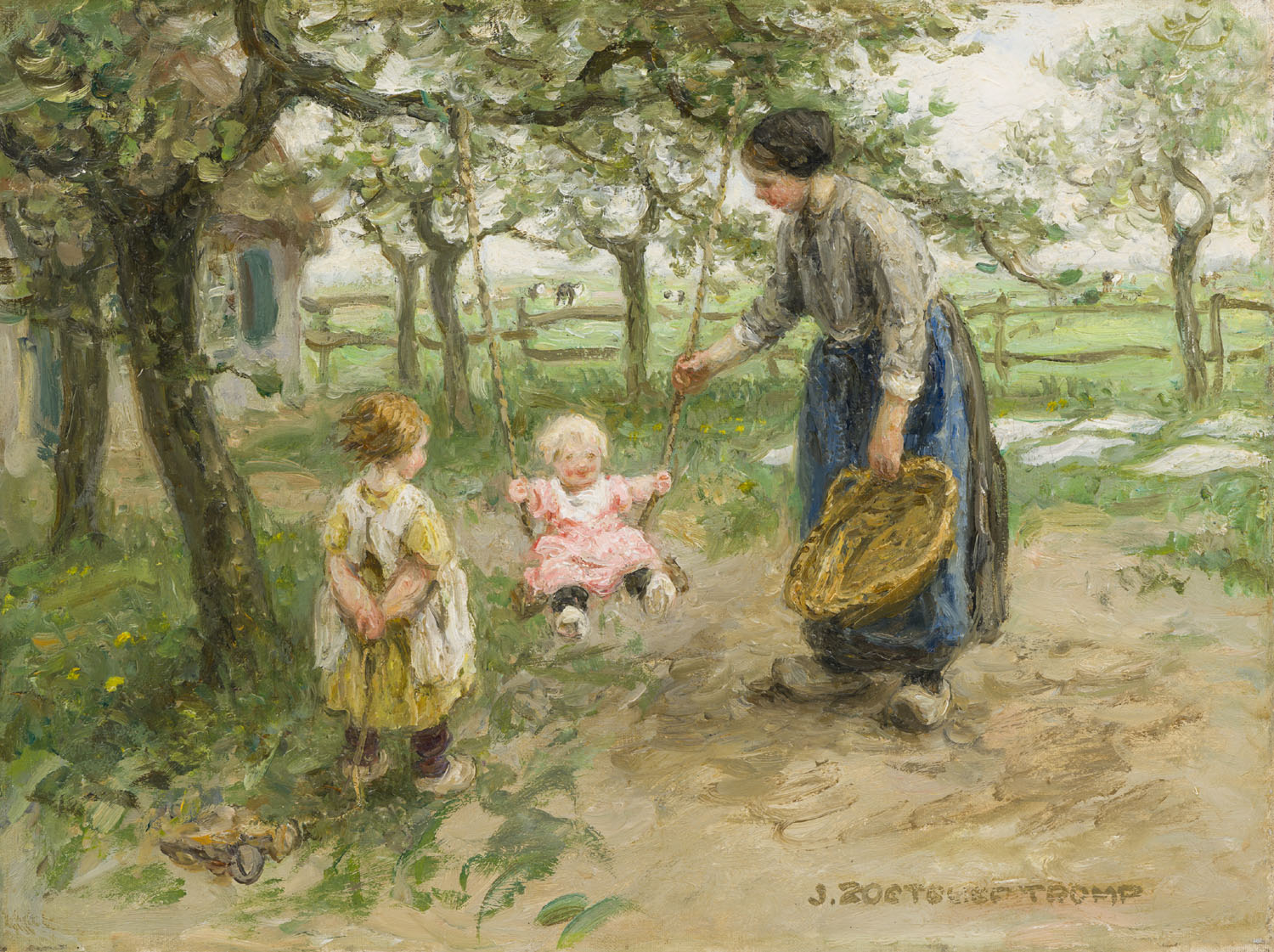 Jan Zoetelief Tromp | Playing in the garden | Kunsthandel Bies | Bies Gallery