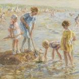 Jan Zoetelief Tromp   Spelende kinderen aan het strand