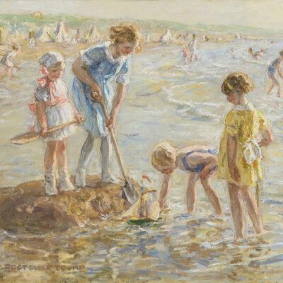 Jan Zoetelief Tromp | Spelende kinderen aan het strand