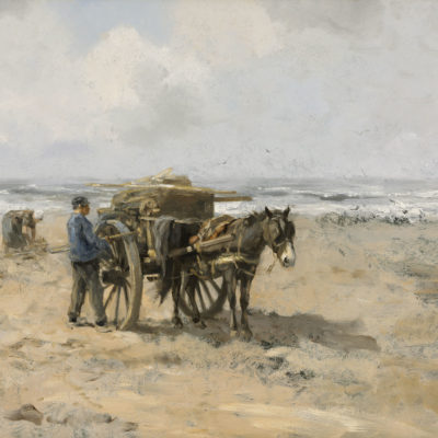 Willem George Frederik ('Willem') Jansen | Strandjutters met paard en kar | Kunsthandel Bies