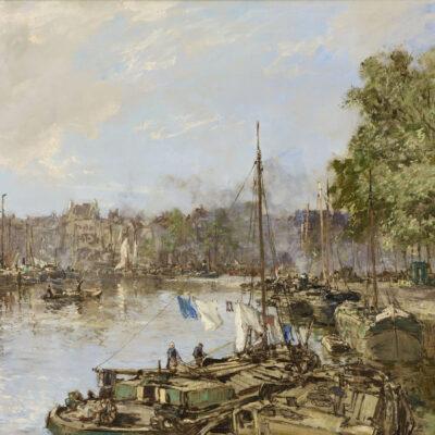 Johan Hendrik van Mastenbroek | De Wijnhaven te Rotterdam, Waschdag | Kunsthandel Bies