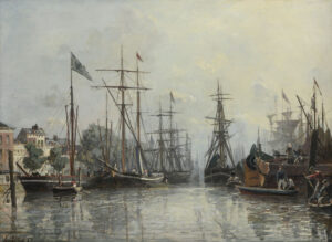 Johan Bartold Jongkind | Le Port de Rotterdam | Kunsthandel Bies