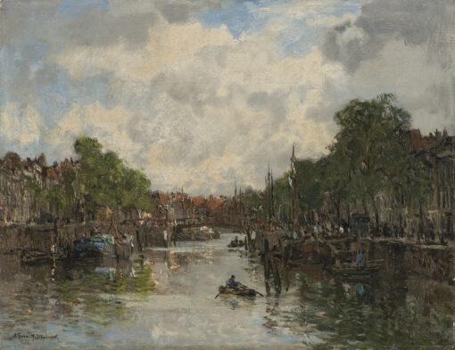 Johan Hendrik van Mastenbroek | Stadsgezicht met binnenhaven | Kunsthandel Bies
