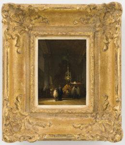 Johannes Bosboom | Interieur van de Portugese Synagoge in Amsterdam | Kunsthandel Bies