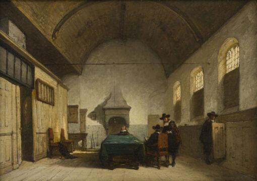 Johannes Bosboom | Consistoriekamer van de Kapelkerk in Alkmaar | Kunsthandel Bies