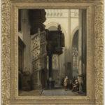 Johannes Bosboom | Interieur van de St.Maclou-kerk te Rouen | Kunsthandel Bies