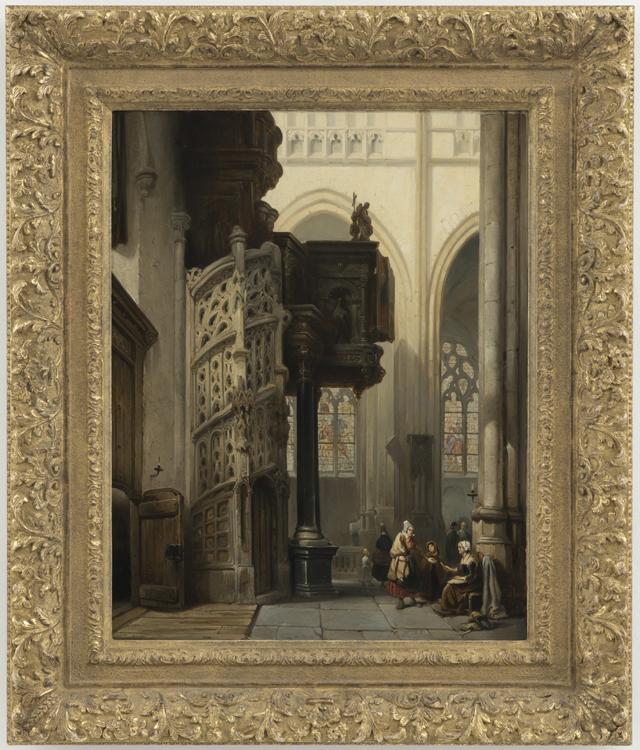 Johannes bosboom interieur van de st maclou kerk te rouen kunsthandel a h bies - Saint maclou tapijt van gang ...