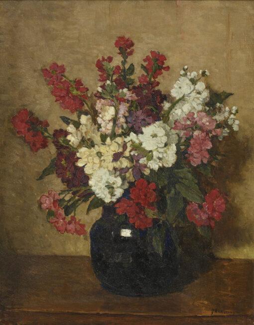 Johannes Evert Hendrik Akkeringa | Bloemen in een vaas | Kunsthandel Bies