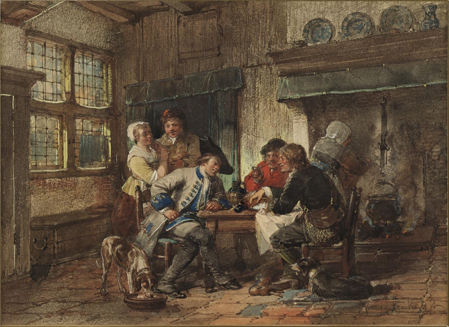 Herman ten Kate | In the tavern | Kunsthandel Bies | Bies Gallery