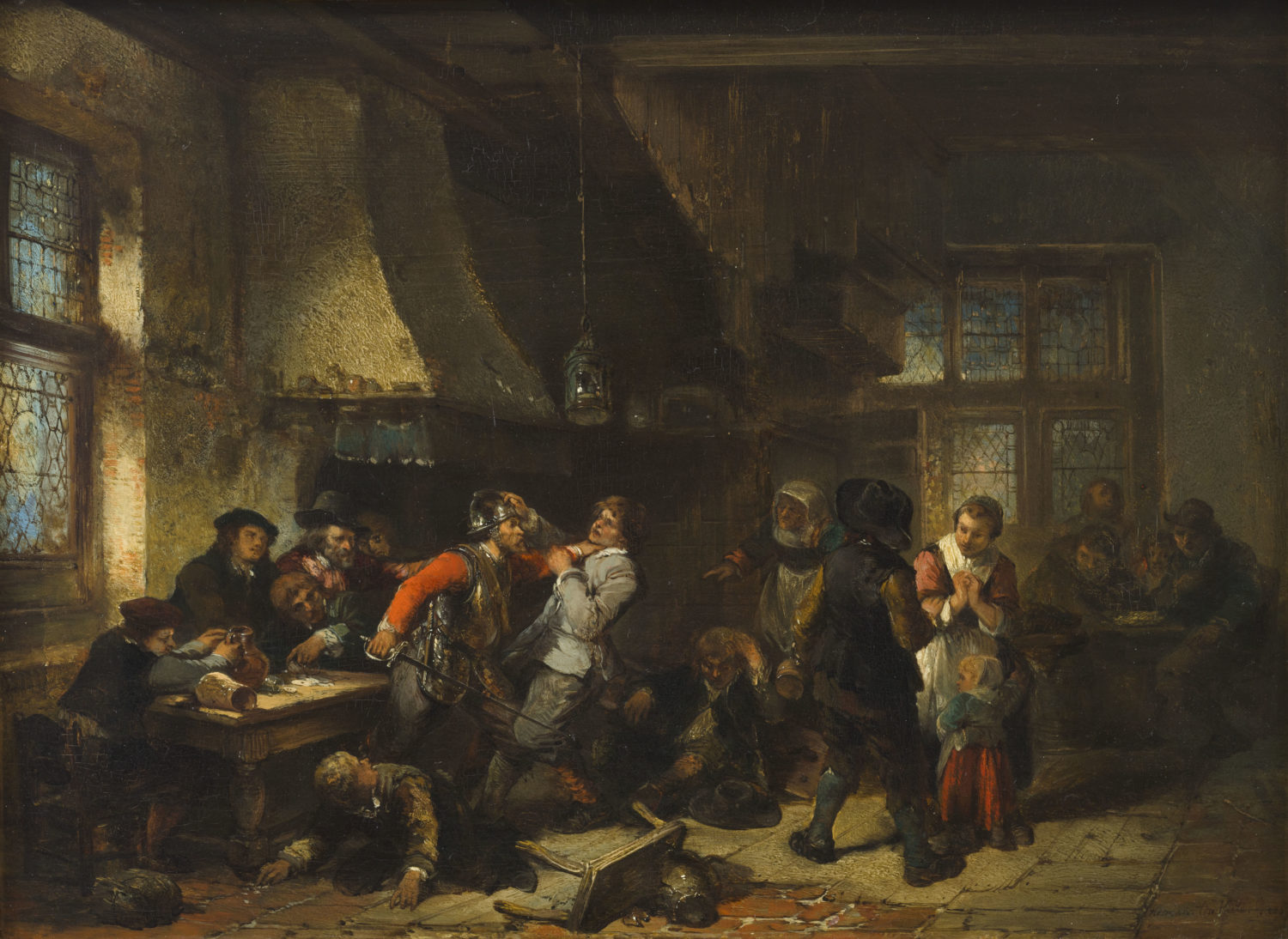 Herman ten Kate | Arguing card players in a tavern | Kunsthandel Bies | Bies Gallery