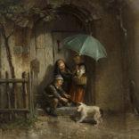 Mari ten Kate   Kinderen schuilen voor de regen   Kunsthandel Bies