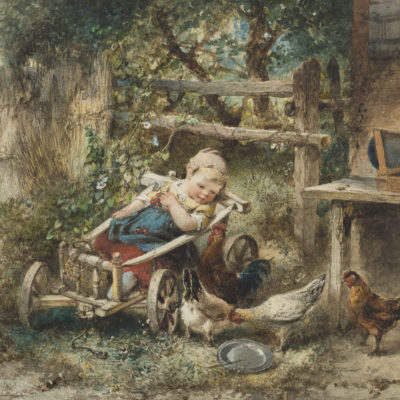 Mari ten Kate | Kippen voeren | Kunsthandel Bies