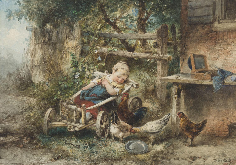 Mari ten Kate | Feeding the chickens | Kunsthandel Bies | Bies Gallery