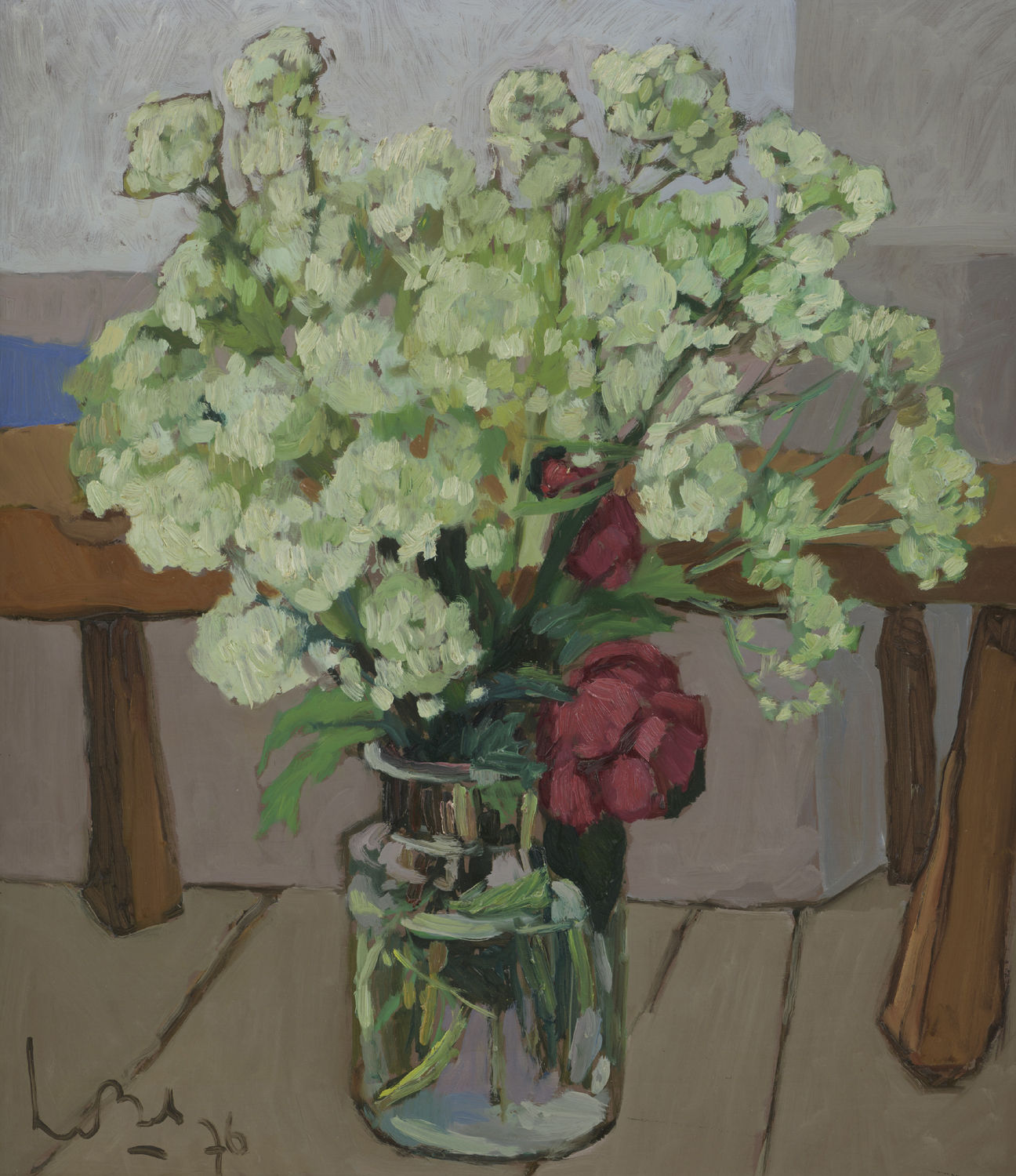 Kees Bol | A still life with cow parsley and peony | Kunsthandel Bies | Bies Gallery