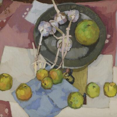 Kees Bol | Stilleven met appels en knoflook
