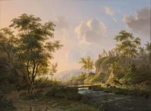 Willem de Klerk | Weids rivierlandschap in de zomer | Kunsthandel Bies