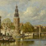 Johannes Christiaan Karel Klinkenberg | Gezicht op de Montelbaanstoren te Amsterdam