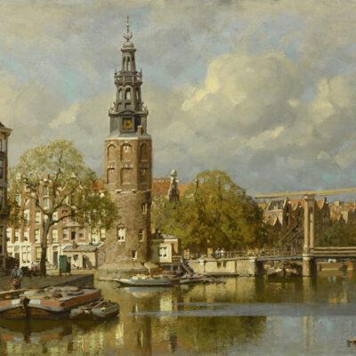 Johannes Christiaan Karel Klinkenberg | Gezicht op de Montelbaanstoren te Amsterdam | Kunsthandel Bies