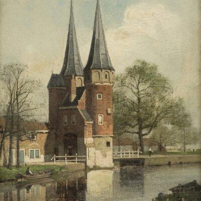 Johannes Christiaan Karel Klinkenberg | De Oostpoort in Delft | Kunsthandel Bies