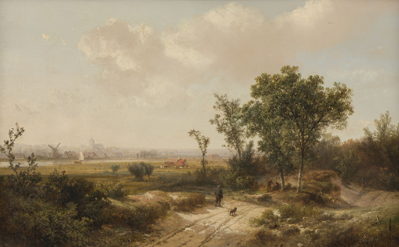Pieter Lodewijk Francisco Kluyver | Weids zomerlandschap | Kunsthandel Bies