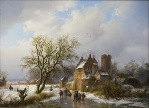 Barend Cornelis Koekkoek | Le vieux manoir | Kunsthandel Bies