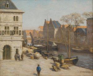 Anton L. Koster | De Waag aan 't Spaarne in Haarlem | Kunsthandel Bies