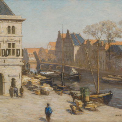 Anton L. Koster | De Waag aan 't Spaarne in Haarlem | Kunsthandel Bies