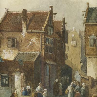Charles Leickert | Stadsgezicht | Kunsthandel Bies