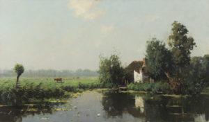 Evert Jan Ligtelijn | Een Hollands zomerlandschap | Kunsthandel Bies