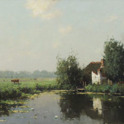 Evert Jan Ligtelijn | Een Hollands zomerlandschap | Kunsthandel Bies