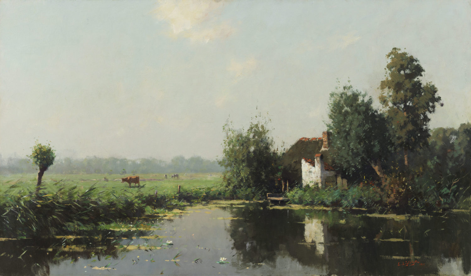 Evert Jan Ligtelijn | A Dutch summer landscape | Kunsthandel Bies | Bies Gallery