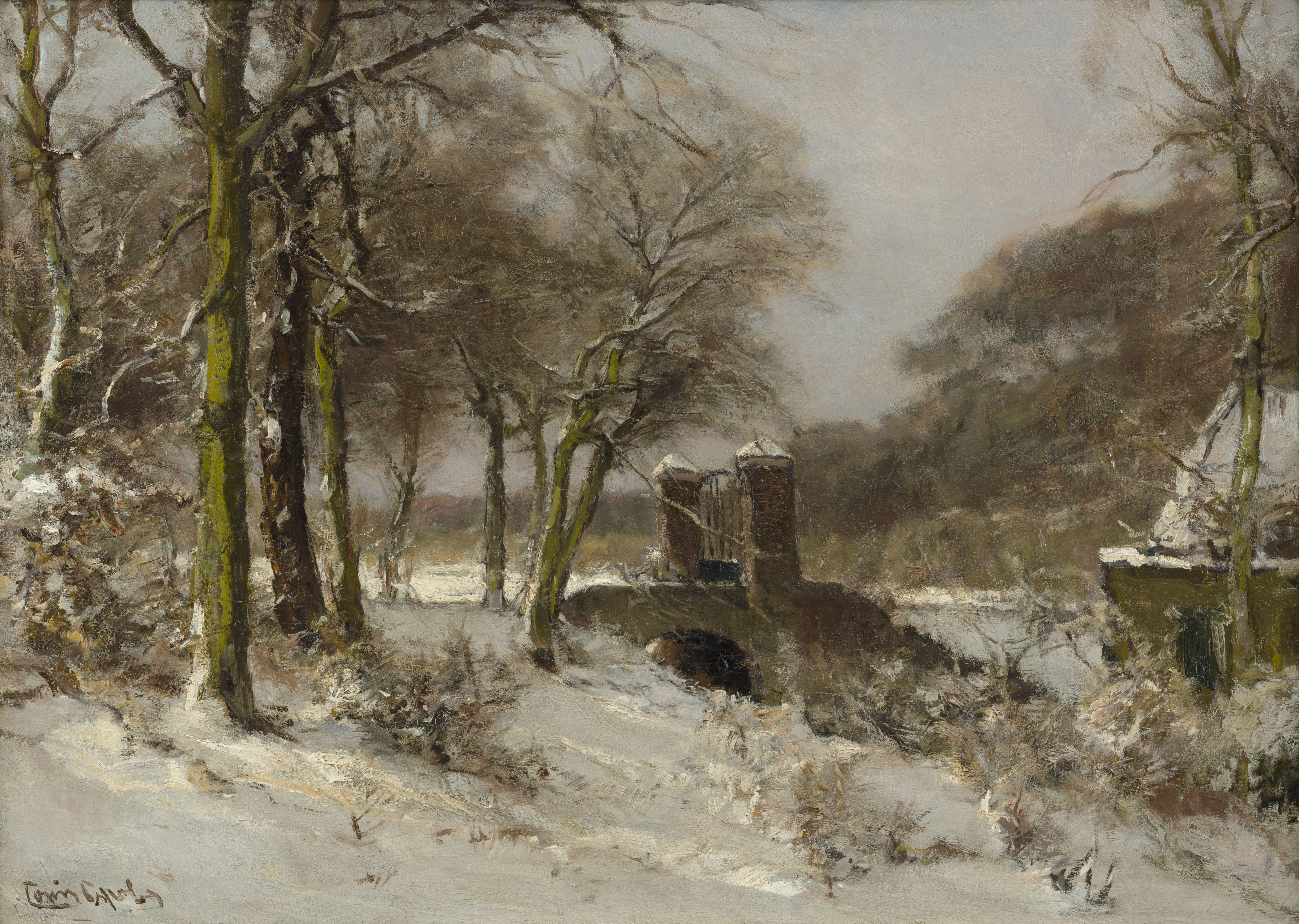 Image | Louis Apol | A gateway in Haagse Bos in winter