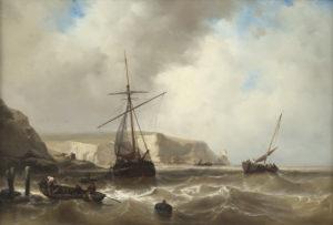 Johan Hendrik Louis ('Louis') Meijer | Schepen voor de kust | Kunsthandel Bies