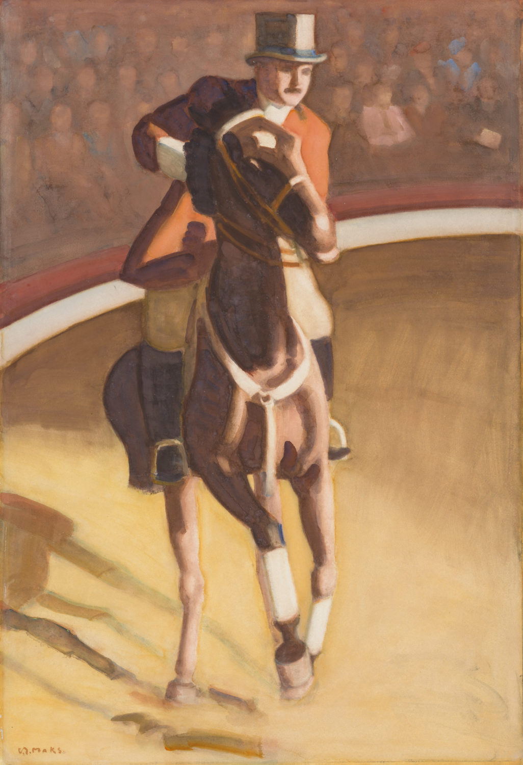 Kees Maks | The famous equestrian and circus director Jean Houcke | Kunsthandel Bies | Bies Gallery