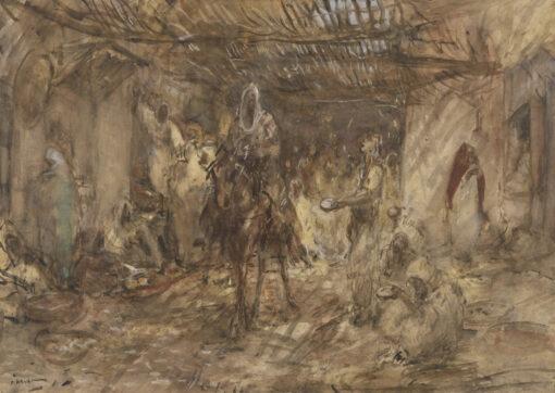 Marius Bauer | Overdekte straat in Marrakesh | Kunsthandel Bies