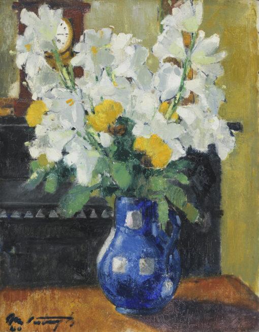 Médard Verburgh   Bouquet de lys blancs   Kunsthandel Bies