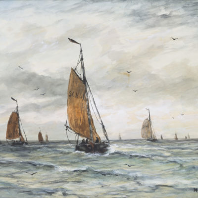 Hendrik Willem Mesdag | Zeilschepen op zee | Kunsthandel Bies