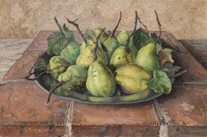 Jakob Nieweg | Kweeperen op een tinnen bord | Kunsthandel Bies