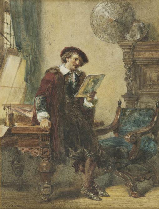 Nicolaas Pieneman | Rembrandt in zijn atelier | Kunsthandel Bies