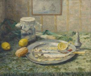 Evert Pieters | Stilleven met vis | Kunsthandel Bies