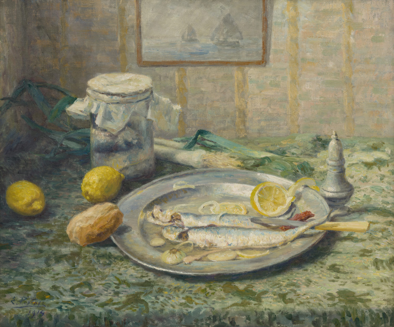Evert Pieters | A still life with fish | Kunsthandel Bies | Bies Gallery