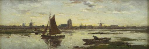 Willem Cornelis Rip | Gezicht op Dordrecht | Kunsthandel Bies