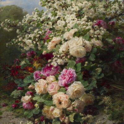 Jean Baptiste Robie | Stilleven met rozen | Kunsthandel Bies