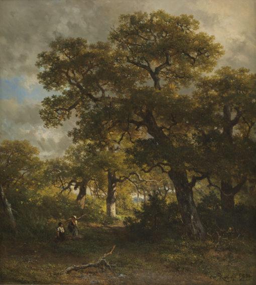 Willem Roelofs | Boslandschap bij Wolfheze | Kunsthandel Bies