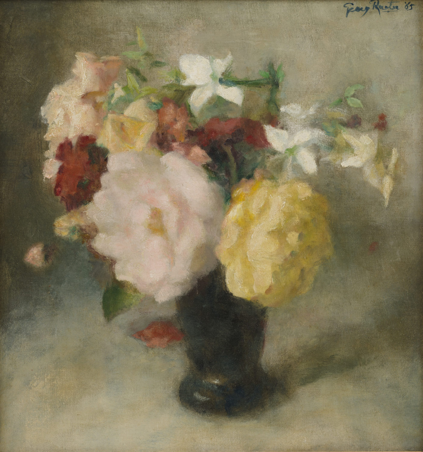 Georg Rueter | A still life with flowers | Kunsthandel Bies | Bies Gallery